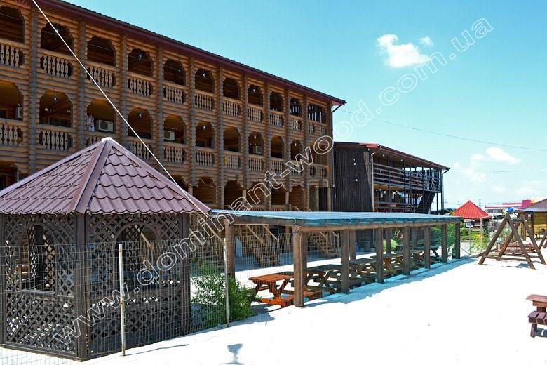 деревянный отель