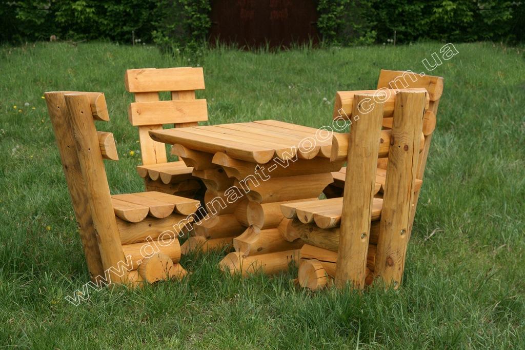 комплект садовой мебели из дерева