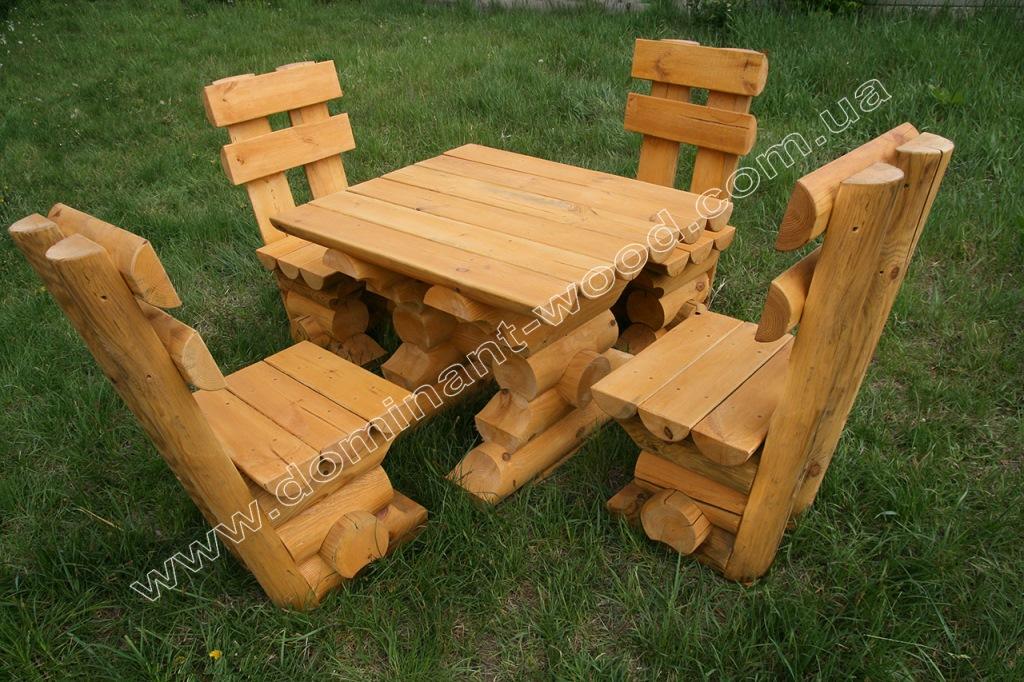 набор стола и стульев «Четыре медведя»