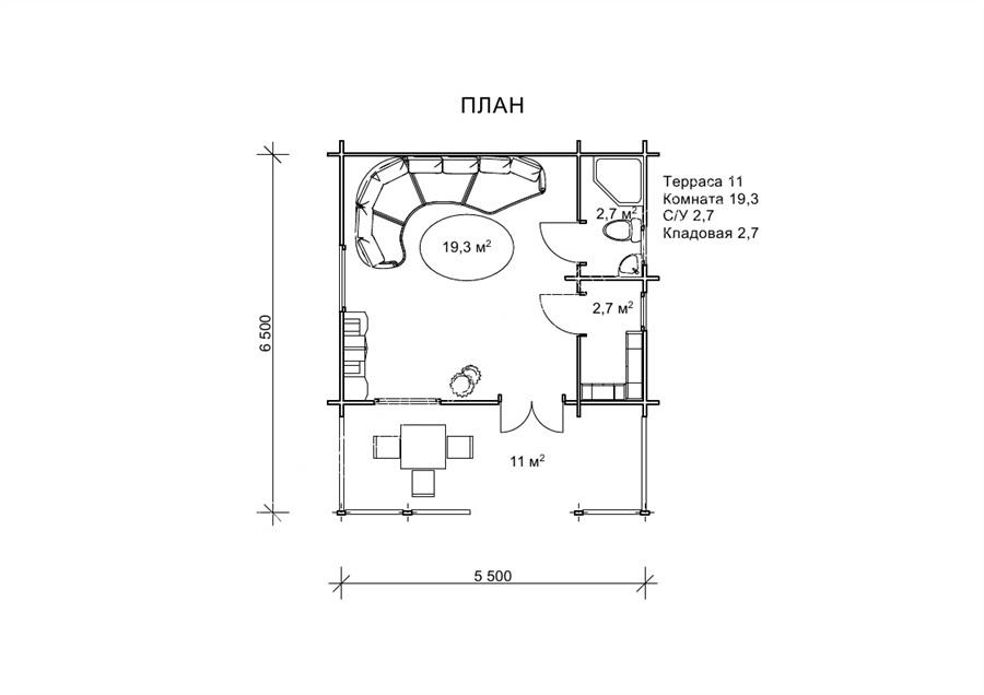«Ірис» - мини-дача 5,5 на 6,5 м