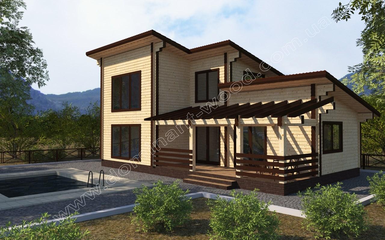 Новый проект дома из сухого бруса Артас — Доминант
