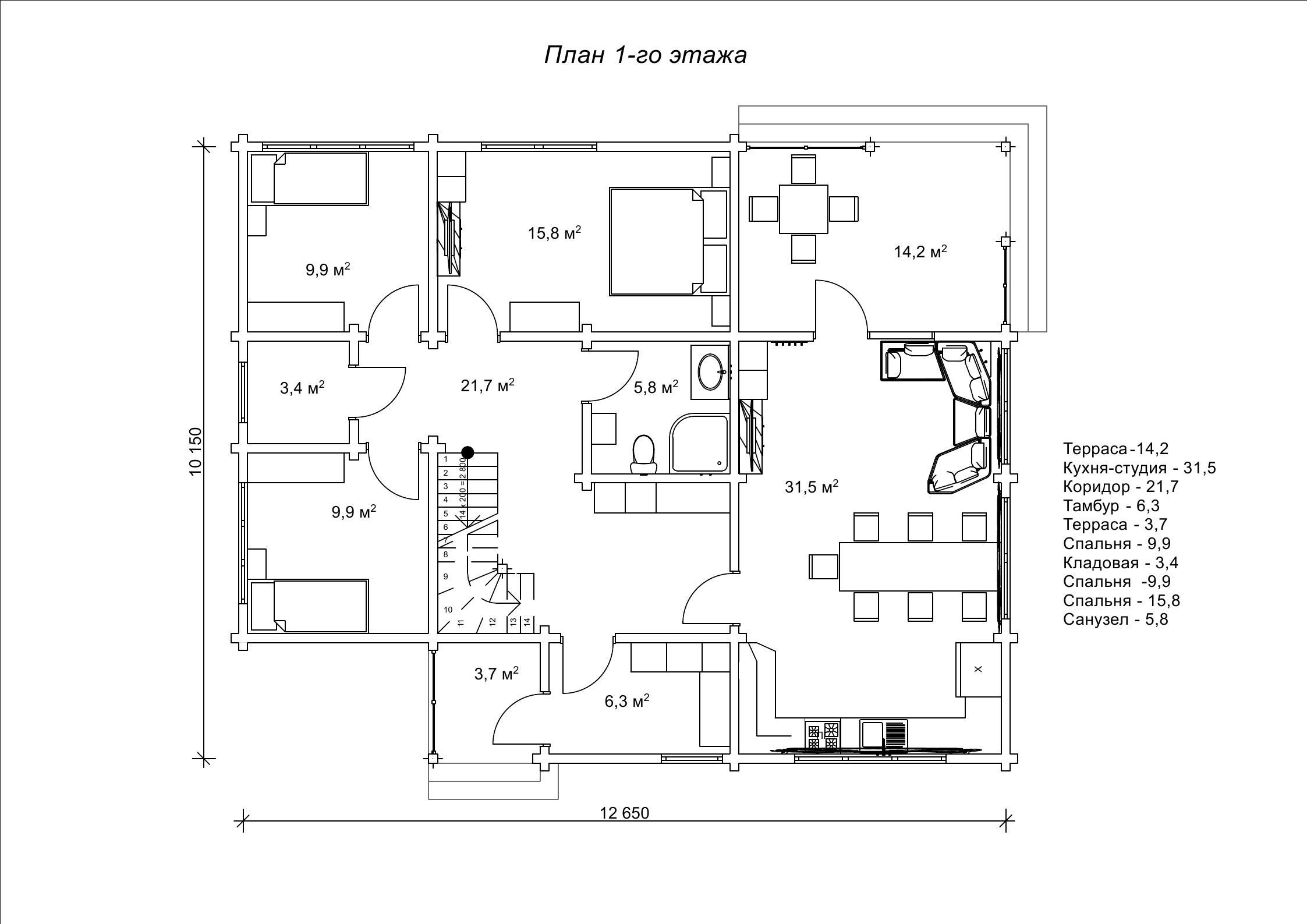 Деревянный дом «Давер»