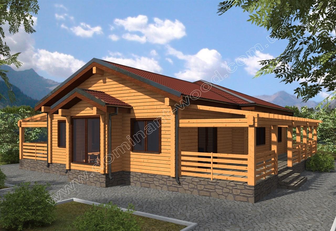 Новый проект дома из сухого бруса Дегис — Доминант