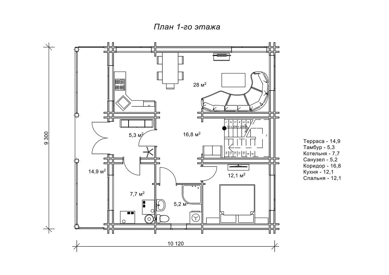 проект дома на два этажа «Горанна»