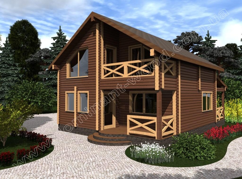 Новый проект дома из сухого бруса Иллидан — Доминант