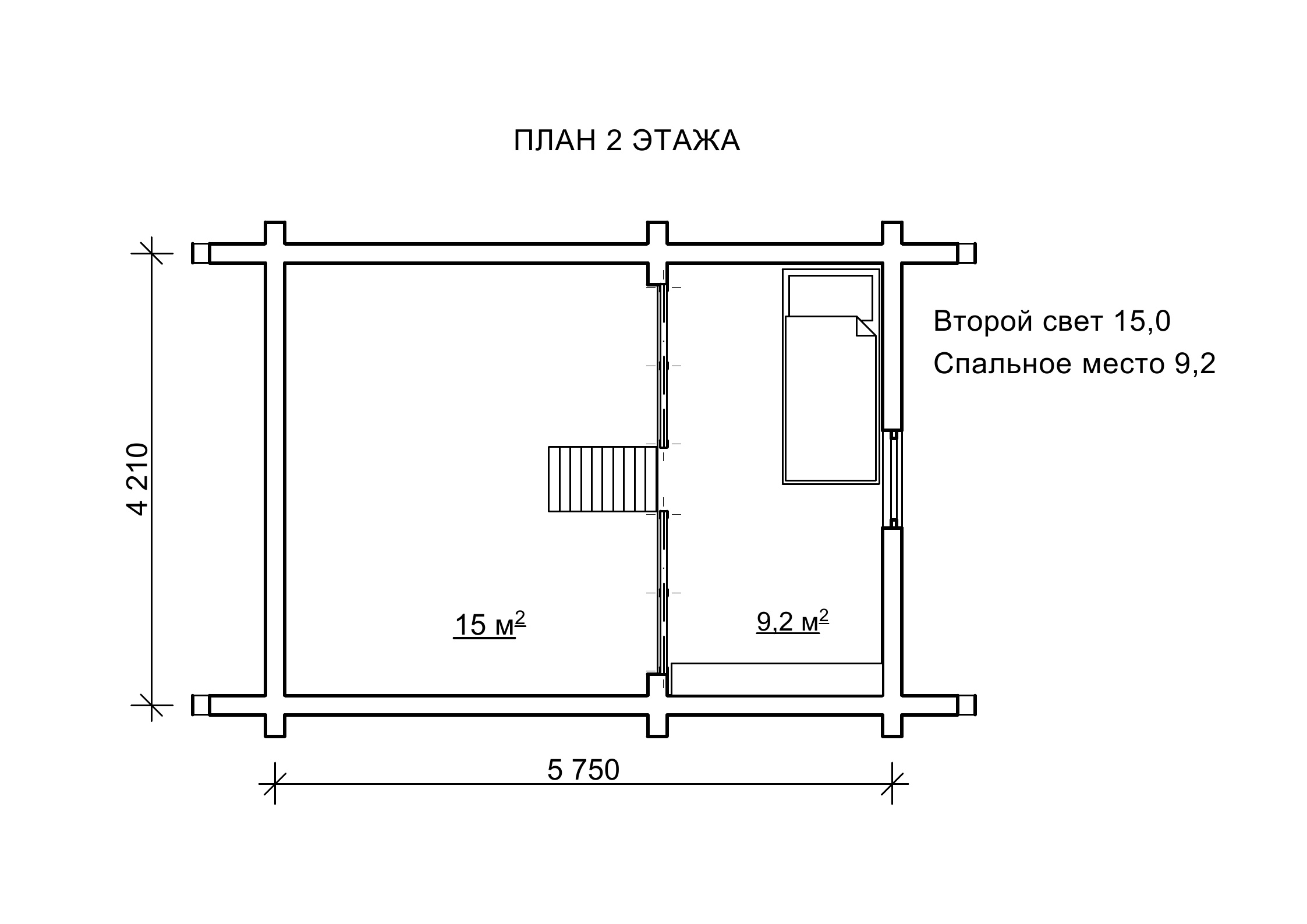 «Инфант2» — проект деревянного домика