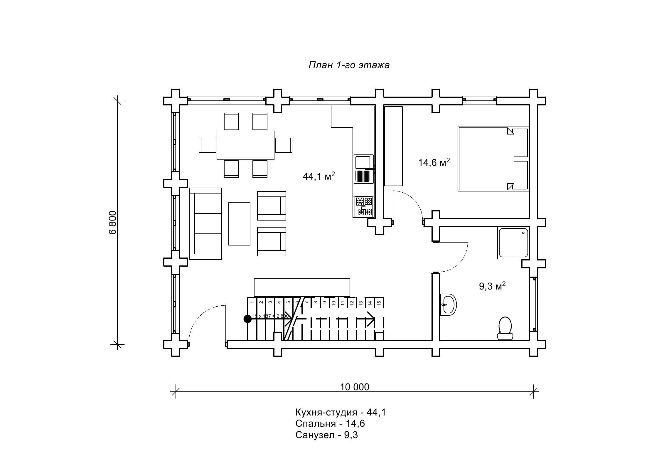 «Кондор» — проект деревянного домика