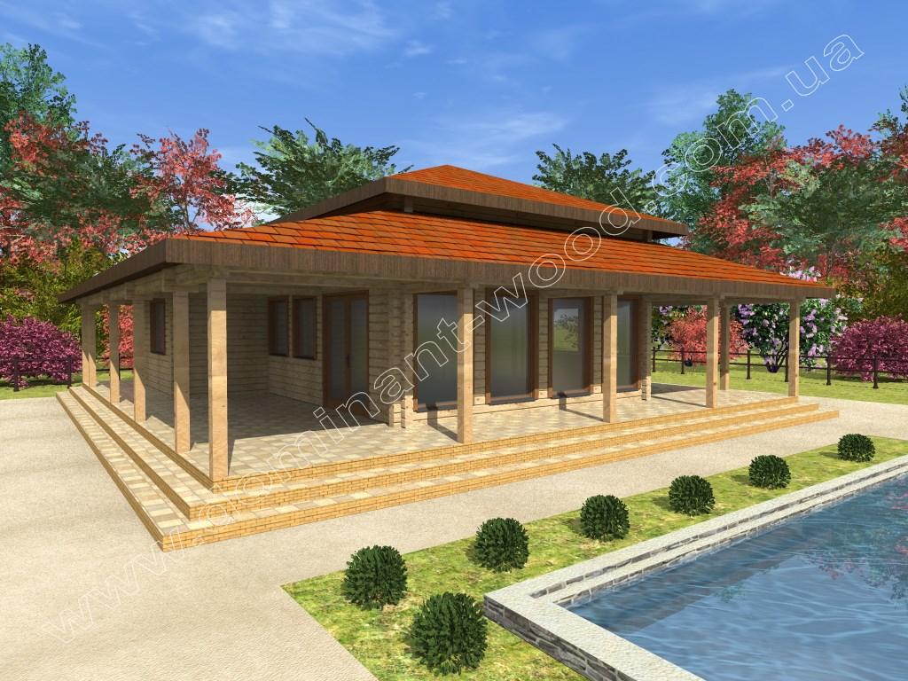 Новый проект дома из сухого бруса Сэйда — Доминант