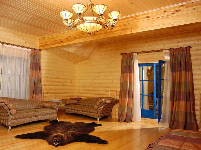 Дизайн комната из дерева