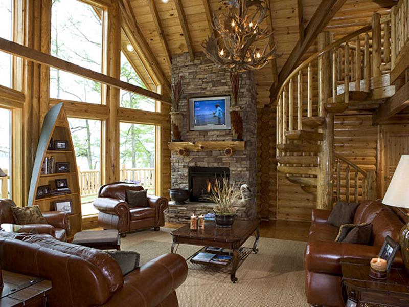 Интерьер деревянных домов со вторым светом фото