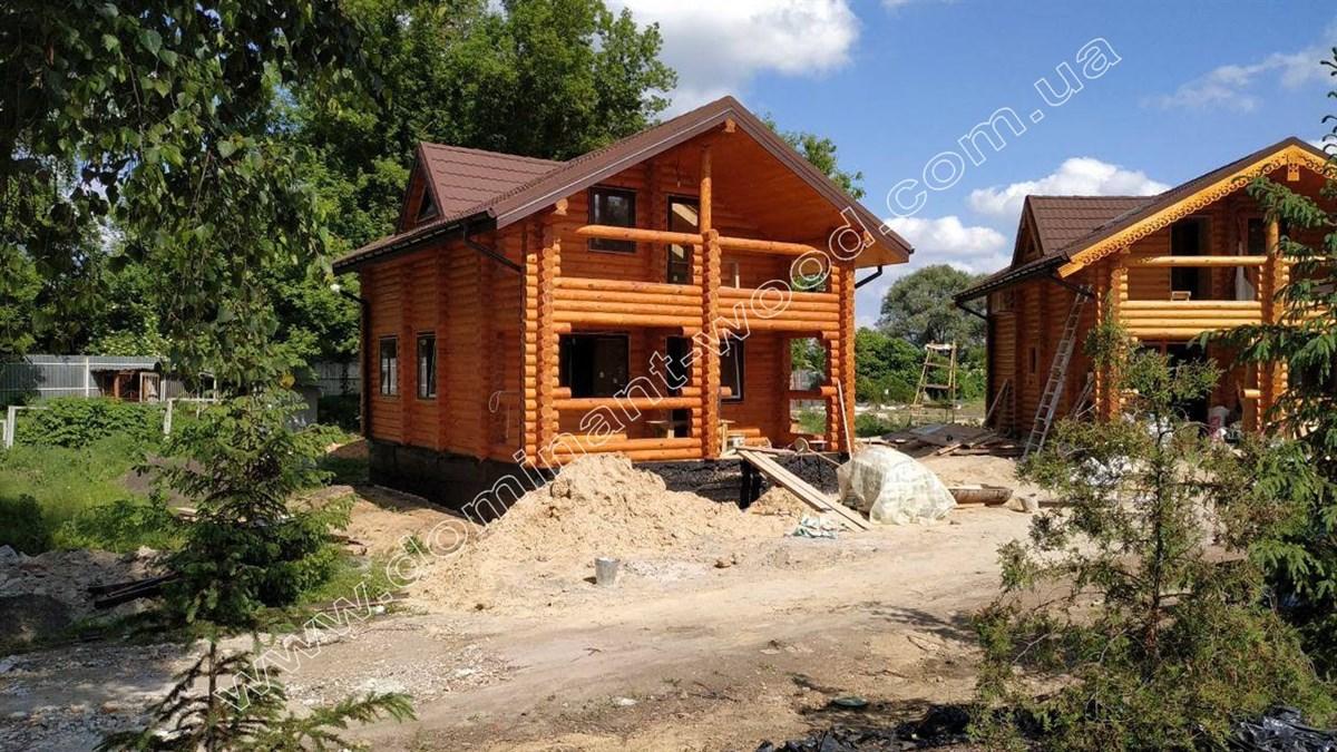 деревянный таунхаус