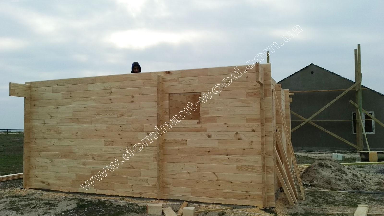 Проект гостевого коттеджа с террасой «Кэнди»