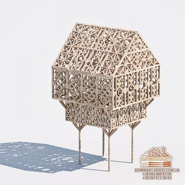 Креативні проекти будівель - дерев'яний палац на стовпах в Олдгейті