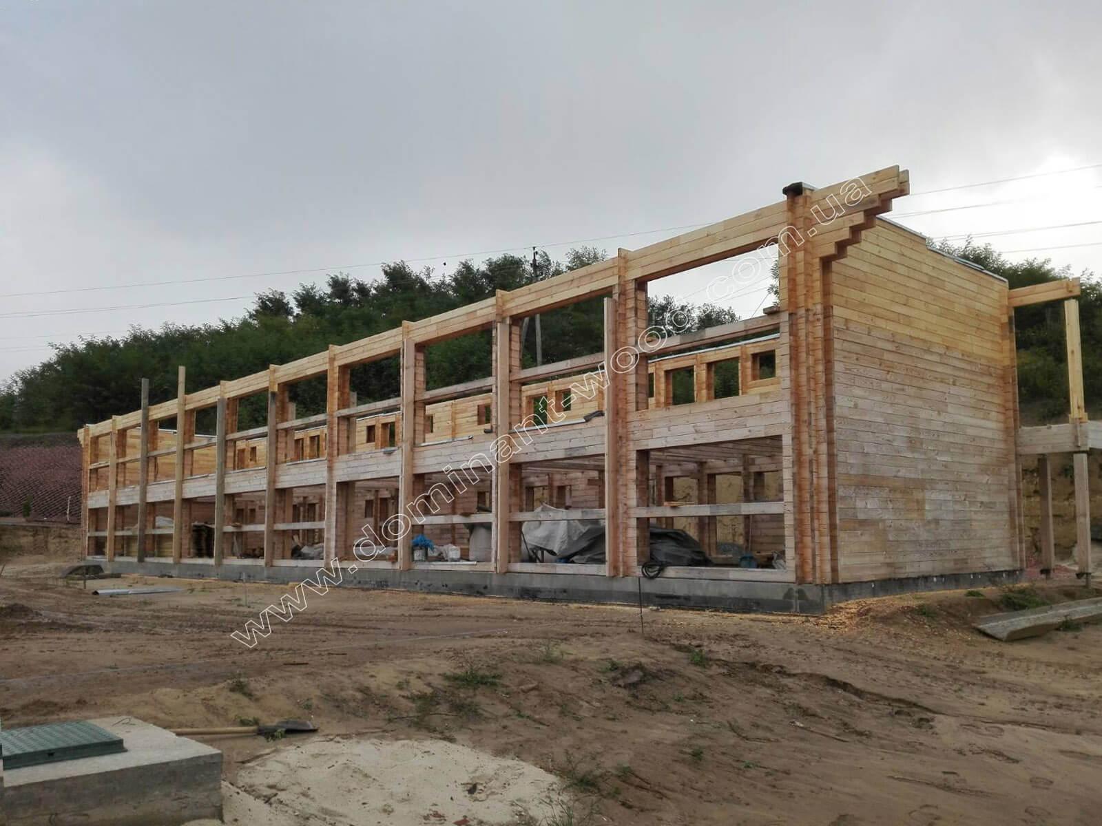 Проект гостиницы из параллельного бруса с утеплителем