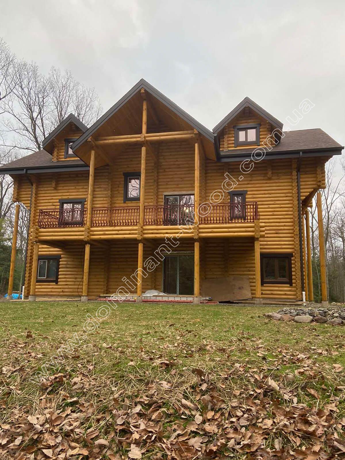 Индивидуальный проект деревянной усадьбы в США