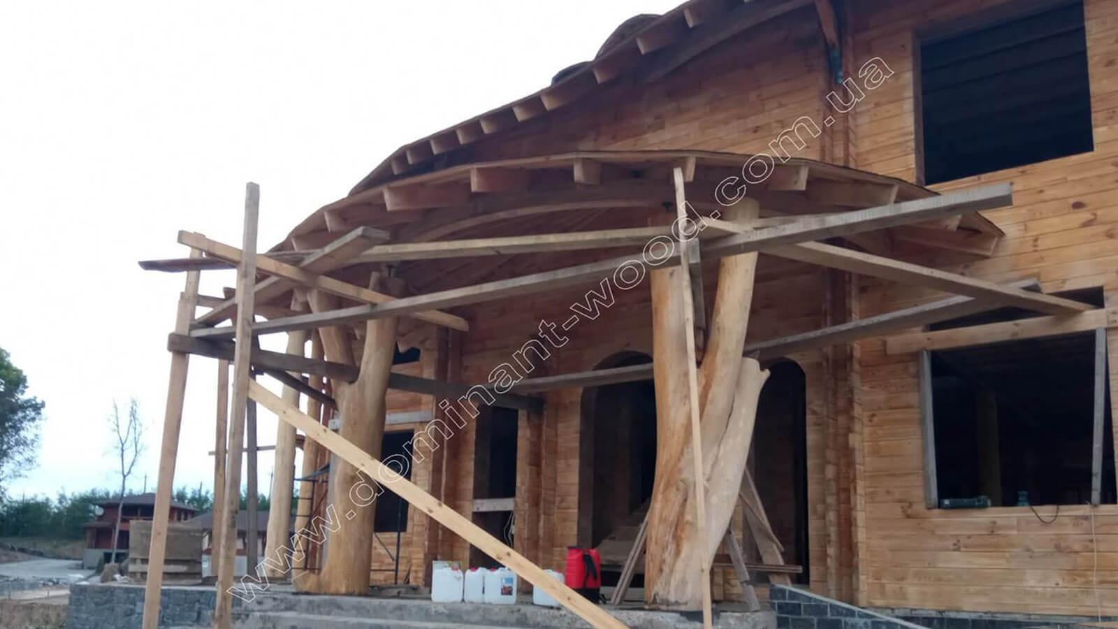 Деревянный ресторан, утепленный арболитом