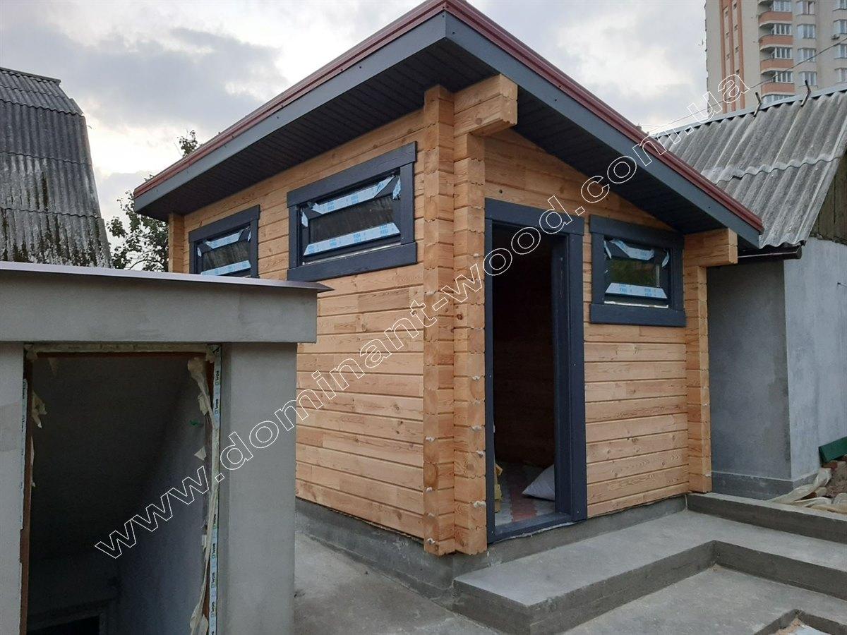 Хозяйственный домик из сухого бруса