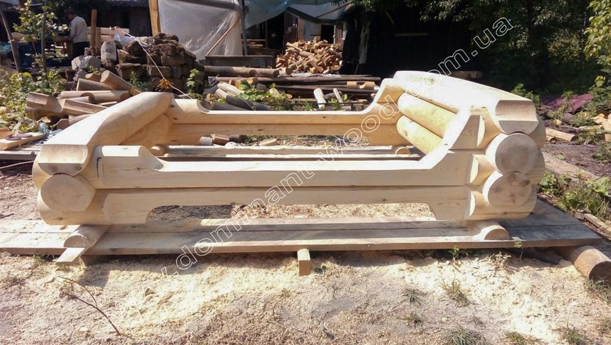 кровать из цельного бруса