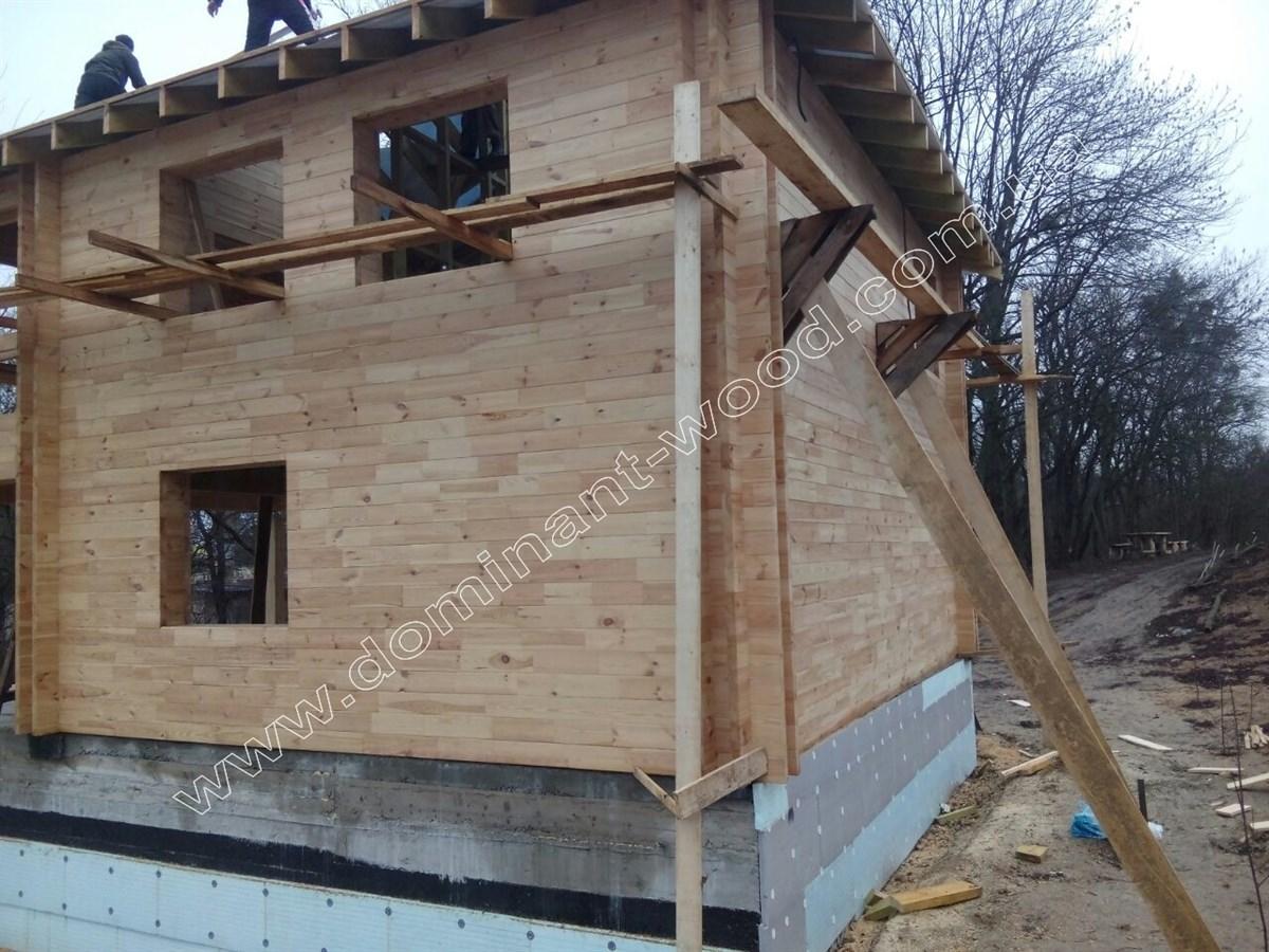 дом из бруса с утеплением из арболита