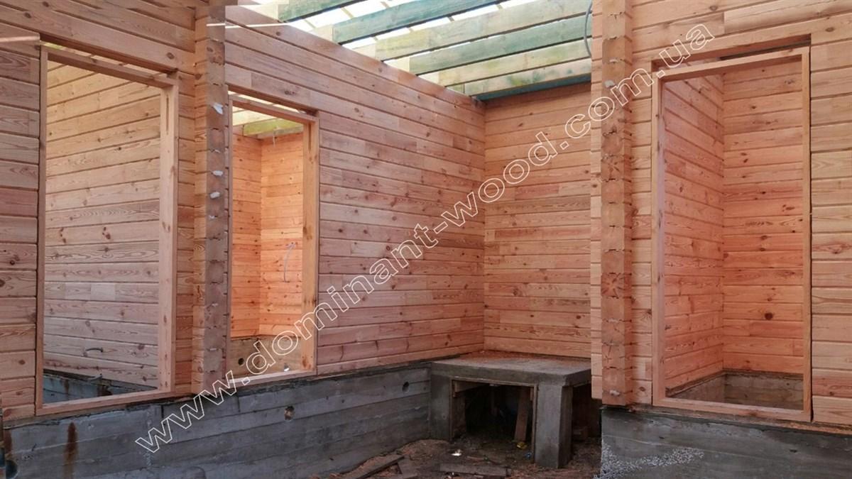 Дачный коттедж из сухого бруса на две спальни