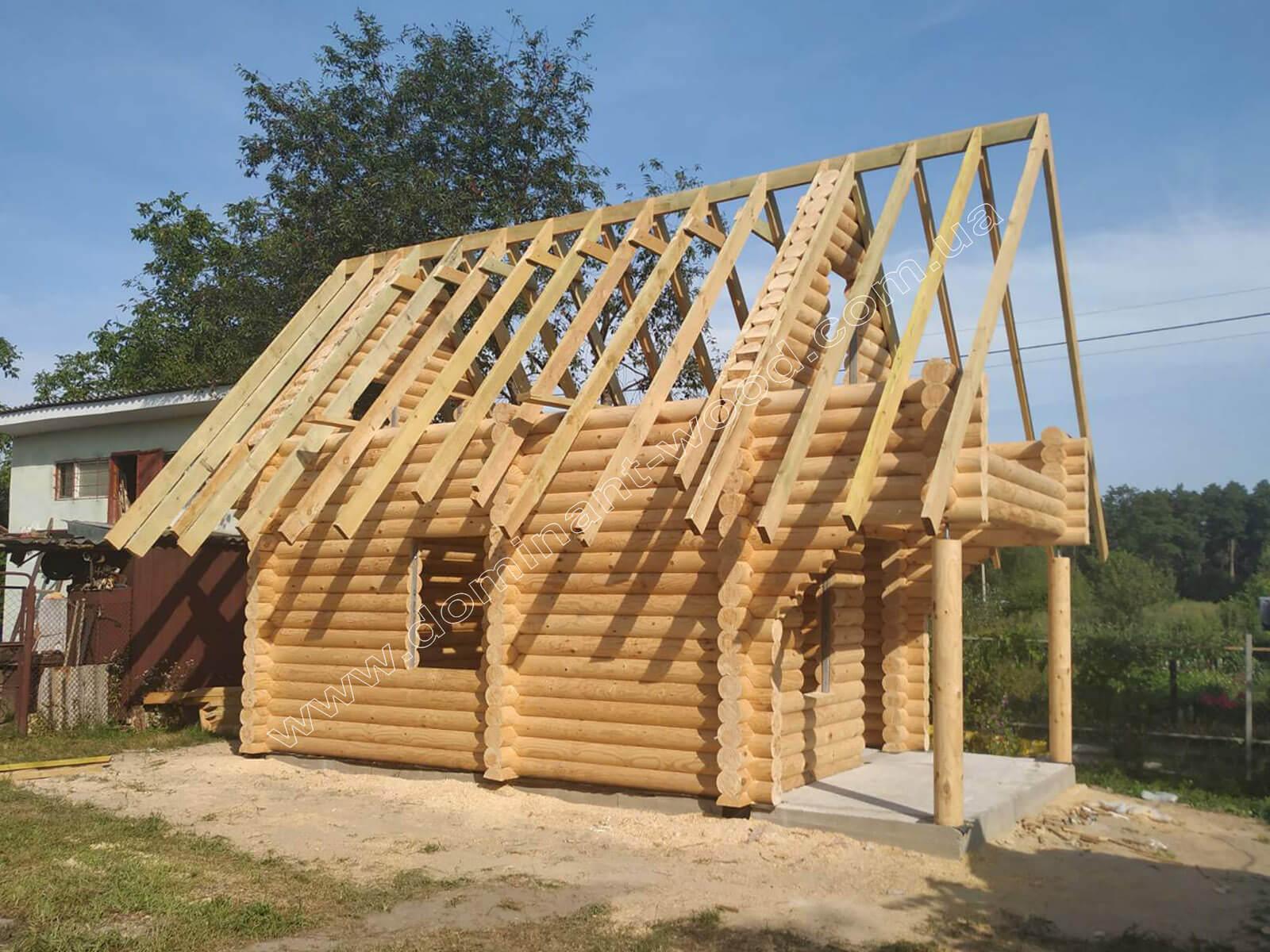 Работы по установке деревянного сруба «Бальдар»