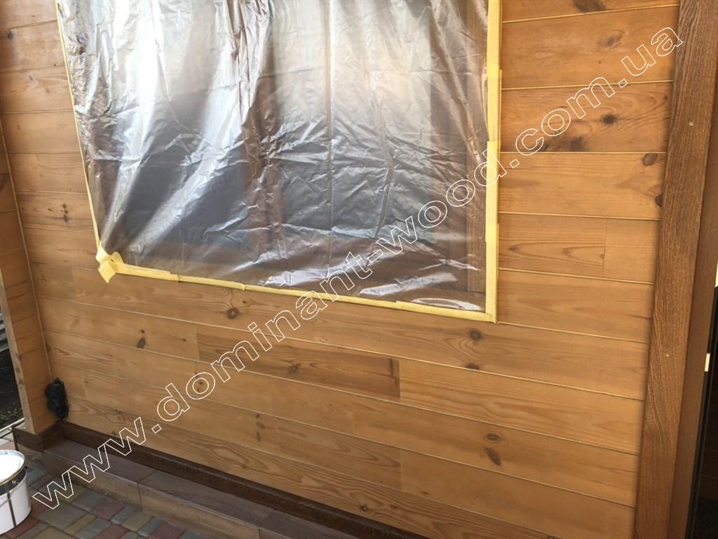 Работы по финишной отделке дома из сухого бруса