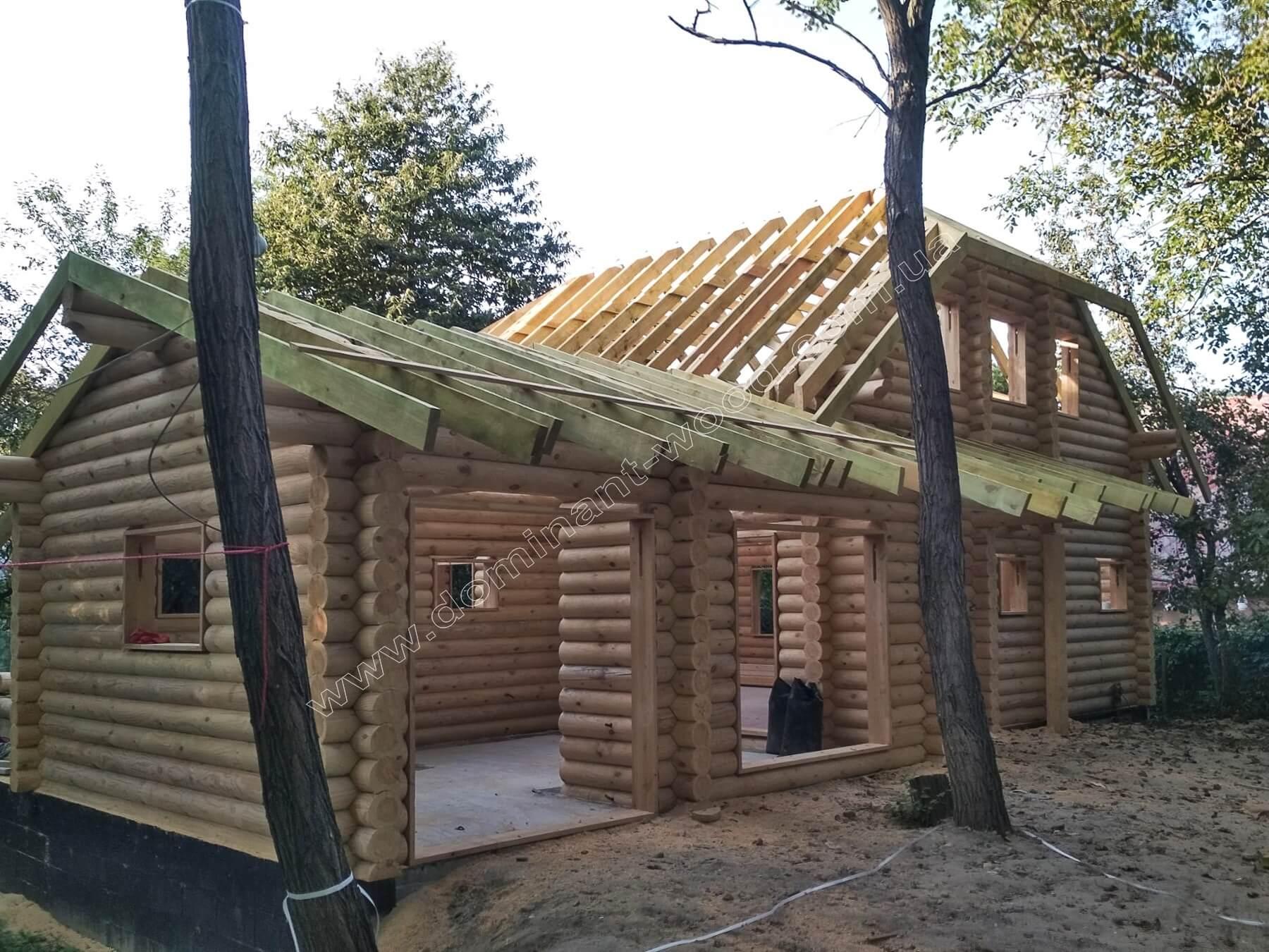 сруб-дом в Венгрии