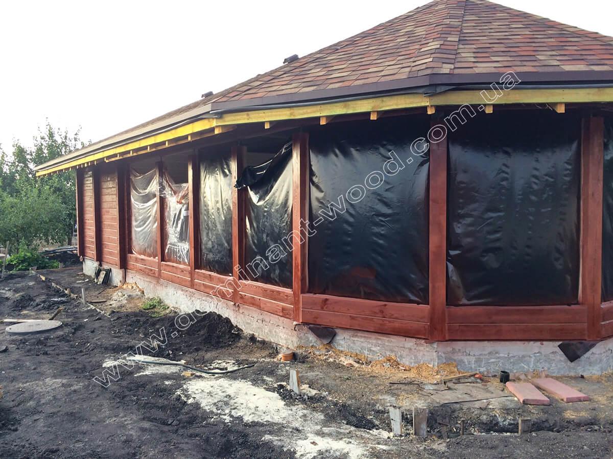 Строительство красивого павильона