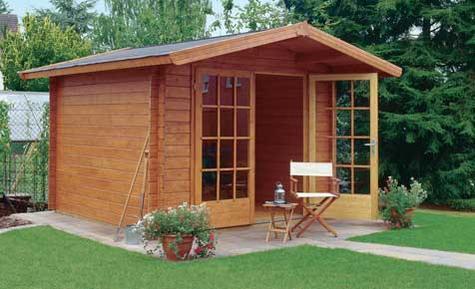 Садовый домик из бруса фото, цена