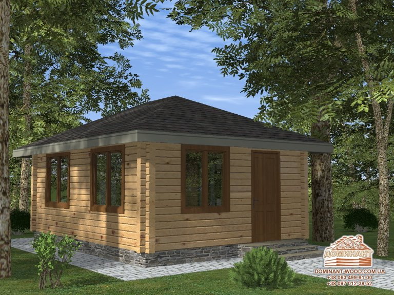 Однокомнатный садовый домик – уют на загородном участке!
