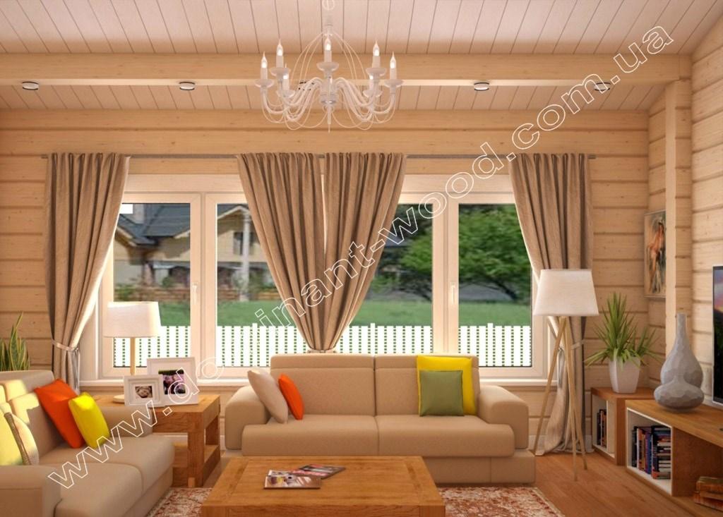 гостиная в пастельных тонах