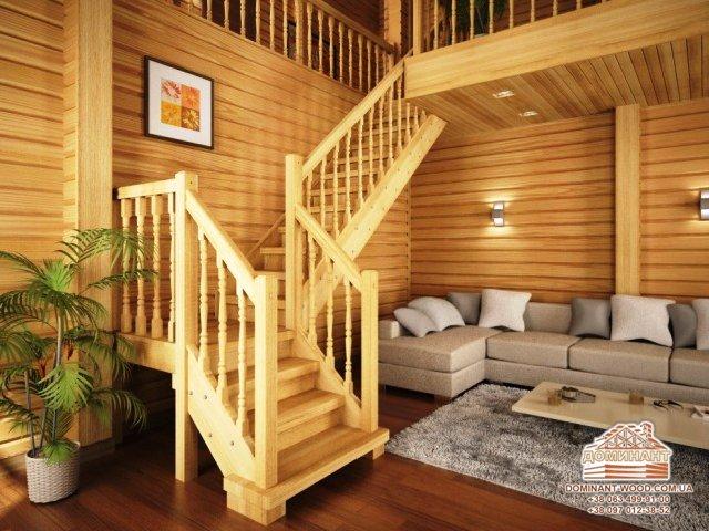 Сходи в дерев'яному будинку - особливості конструкції, вибір і монтаж