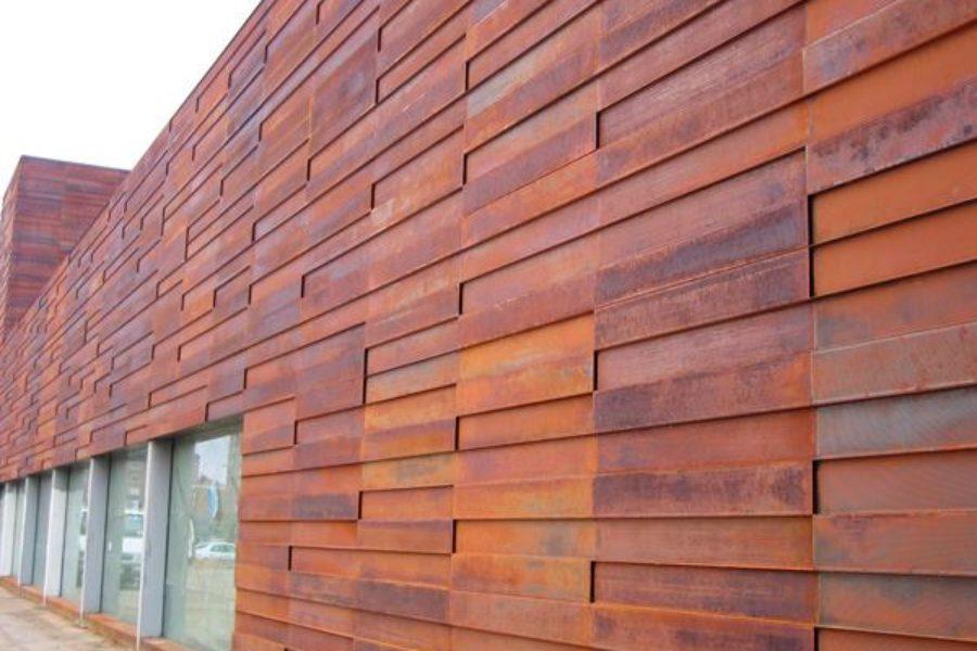 Фасад из кортеновской стали