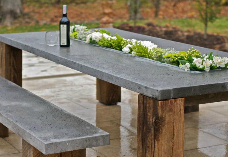 Садовая мебель из бетона или камня