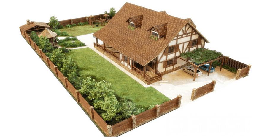 Площадь участка и полезная площадь дома