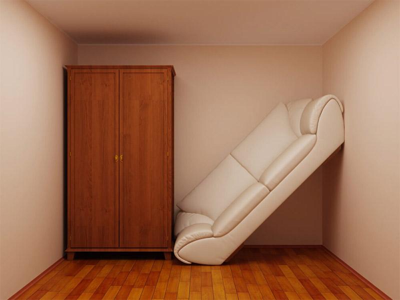 Неудобное расположение комнат в доме