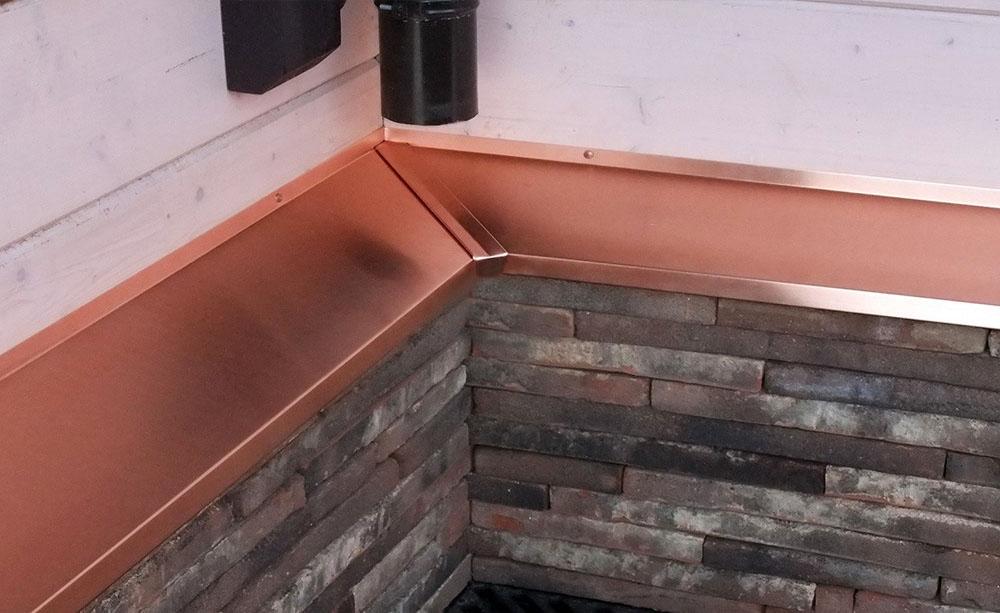 Отливы из меди для цоколя в деревянный дом