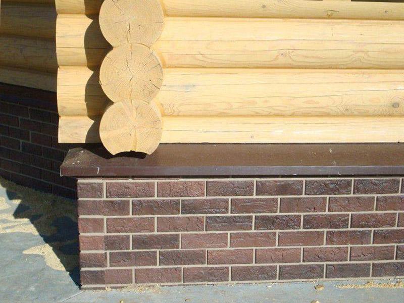 Отливы из бетона для цоколя в деревянный дом