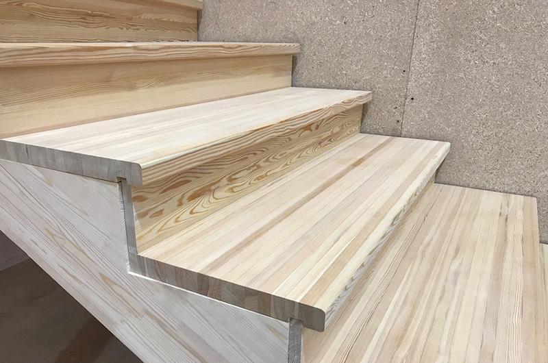 лестница из столярного щита