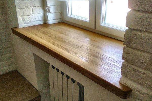 подоконник из мебельного щита