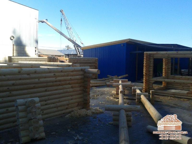 Современные строительные технологии – производство оцилиндрованного бруса - Доминант