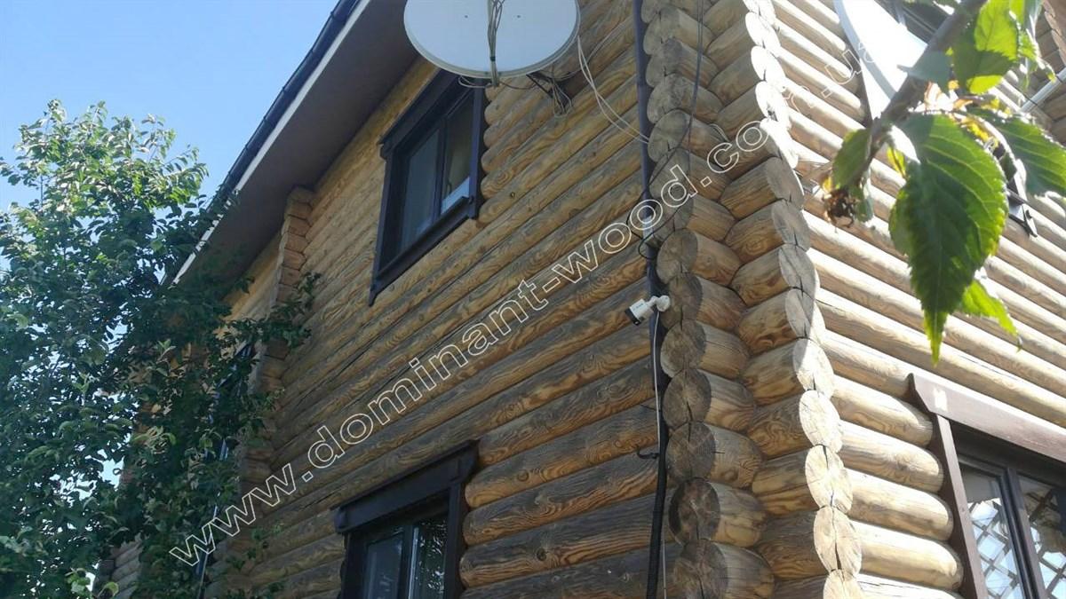 как шлифовать стены деревянного дома