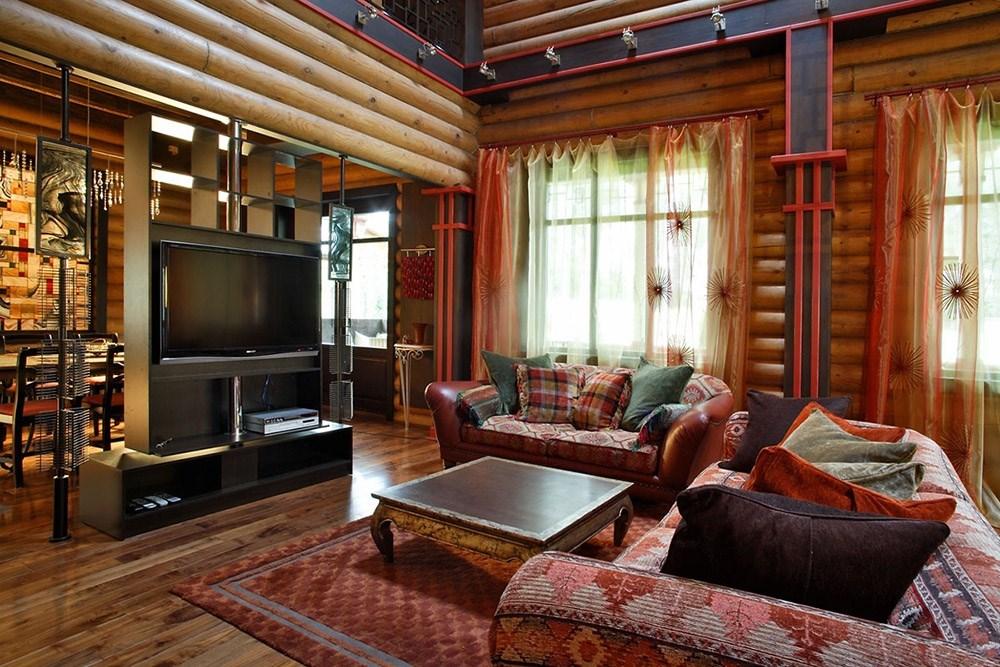 Нюансы выбора текстиля в деревянный дом