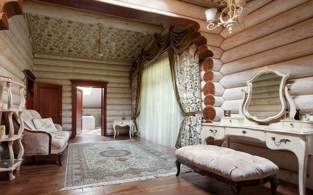 Классического интерьер деревянного сруба