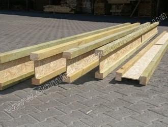 Деревянная двутавровая балка 65х240 мм