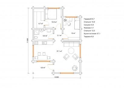 Проект Сильмар - План первого этажа