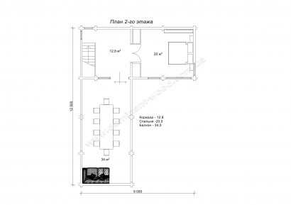 Проект Сильмар - План второго этажа