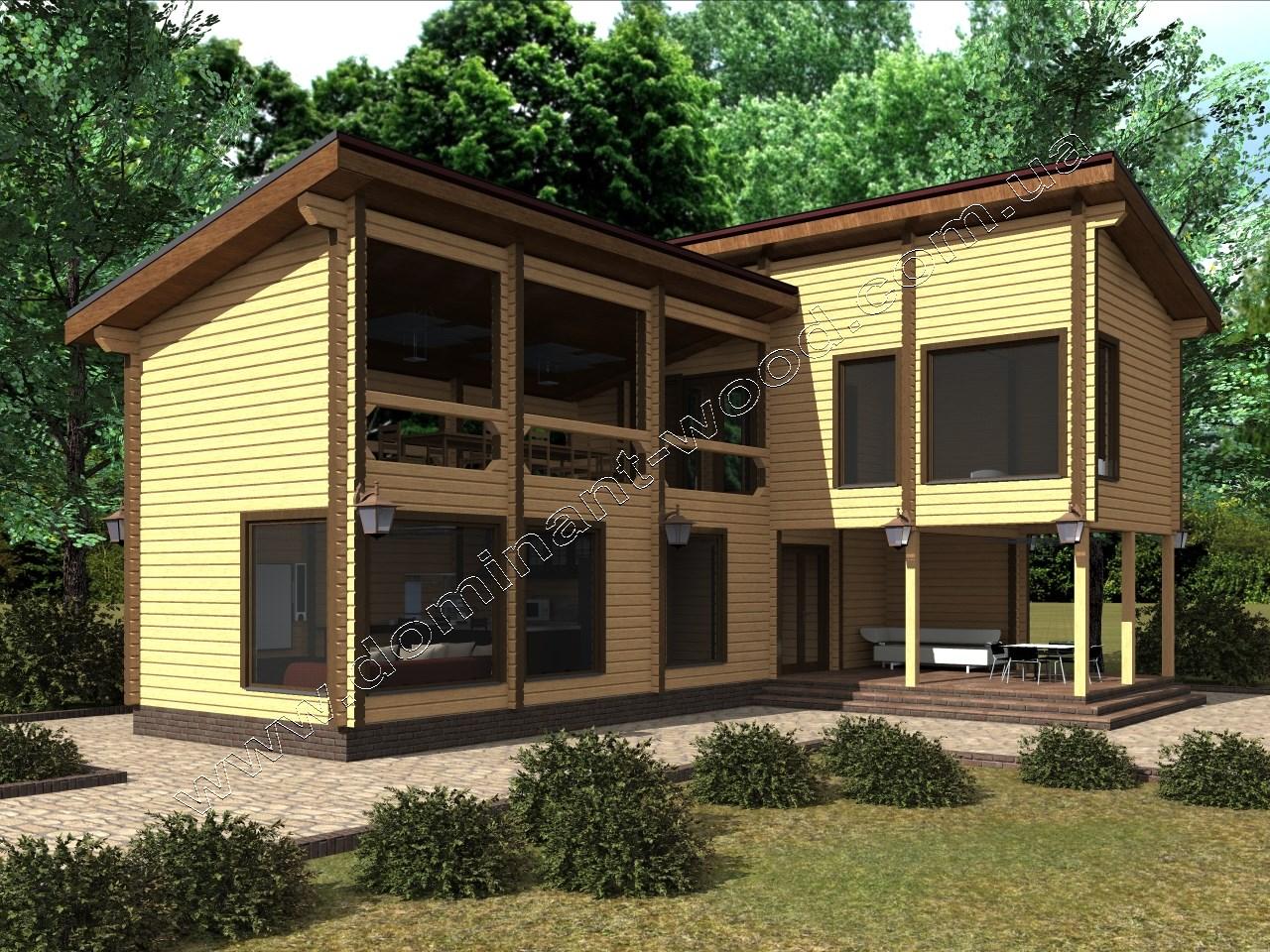 Перевага. побудови одноповерхові будинки з бруса
