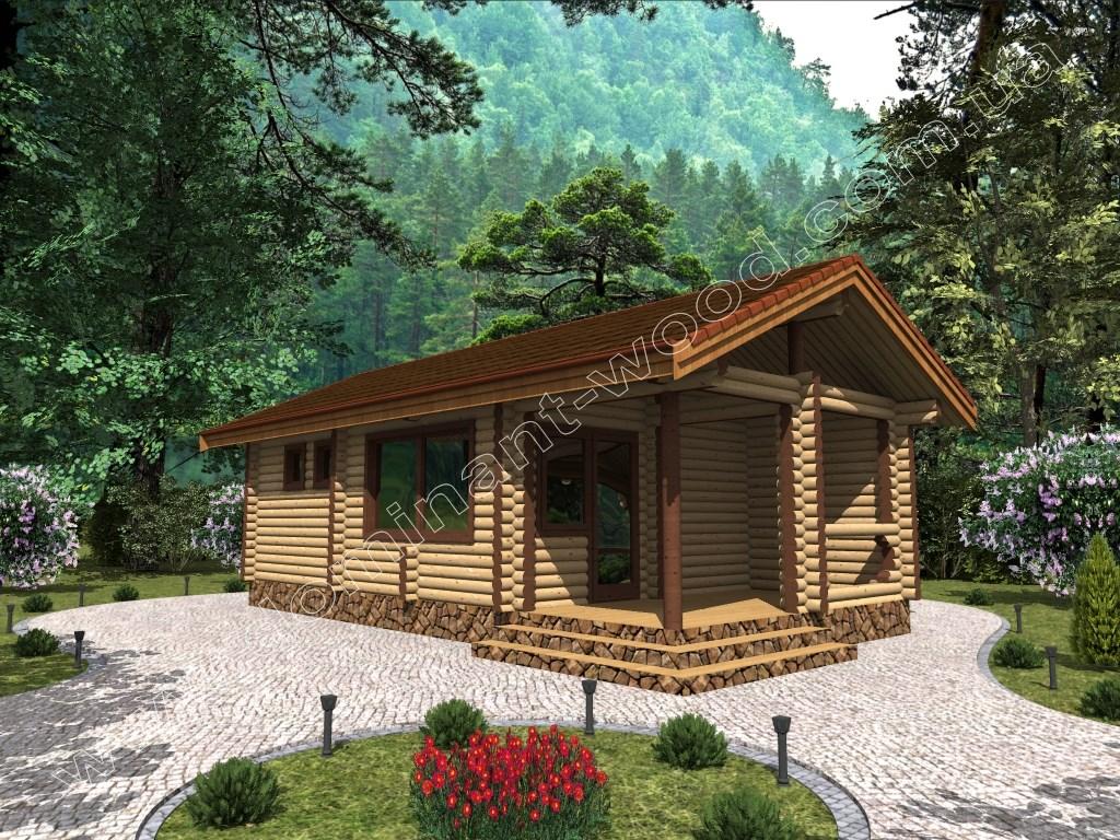 Деревянная баня «Дороза»