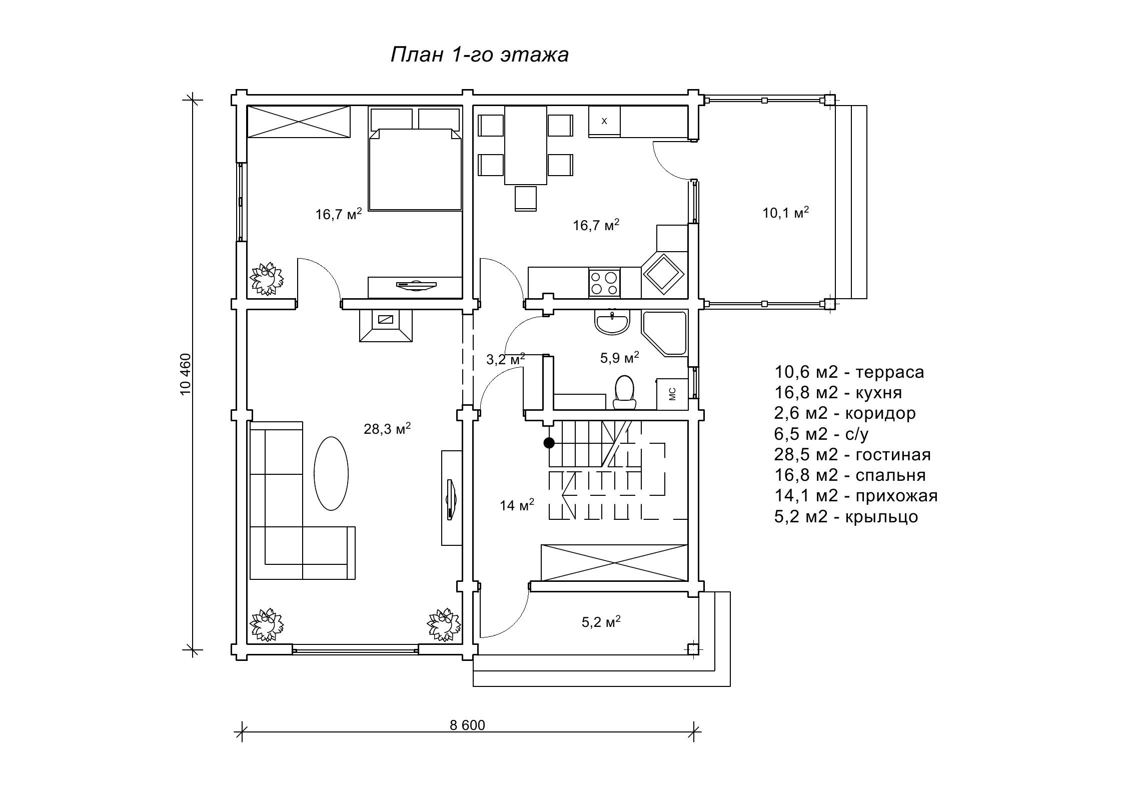 Дерев'янний будинок «Эмиус»